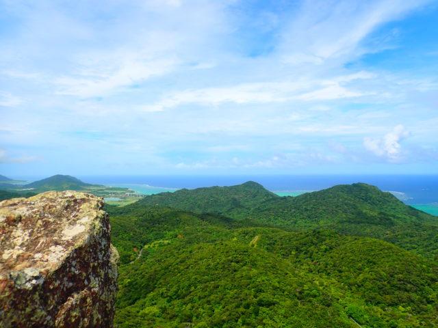 石垣島、マーペー岳トレッキング、山頂からの景色