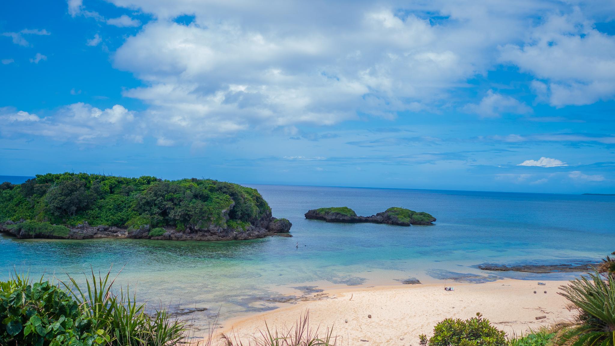 西表島のみどころである星砂ビーチ