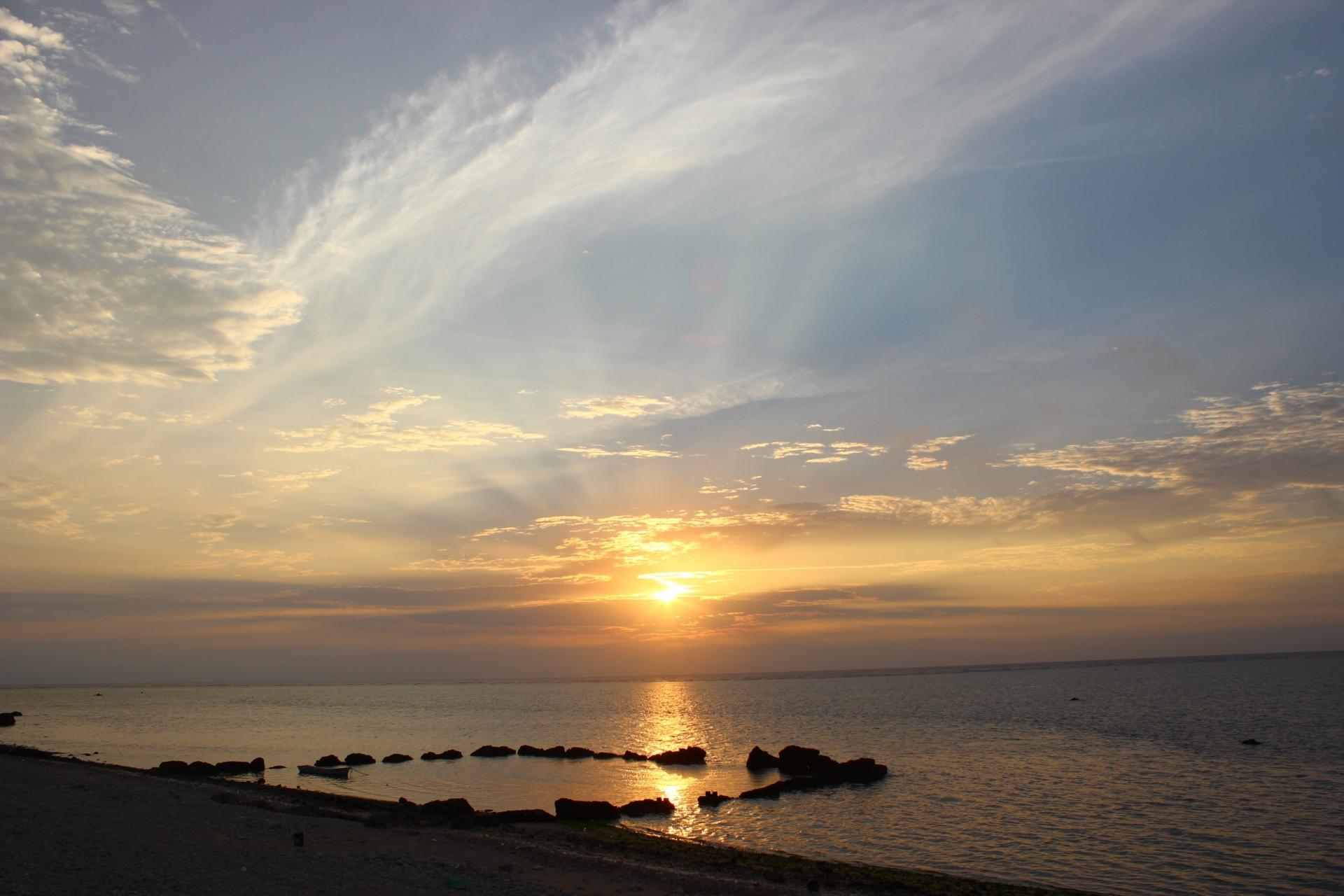 アオサンゴで有名な白保海岸