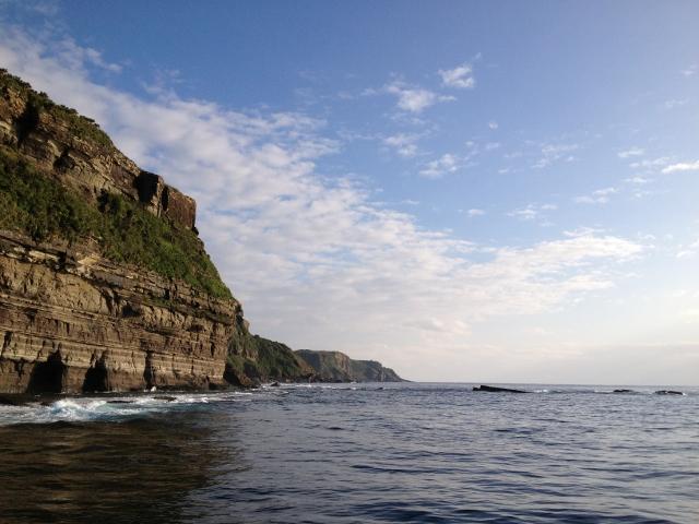 海底遺跡までの風景