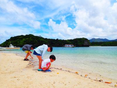 石垣島、川平湾散策、家族で