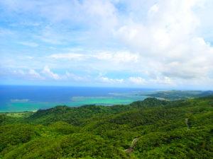 石垣島、海、マーペー岳からの眺め