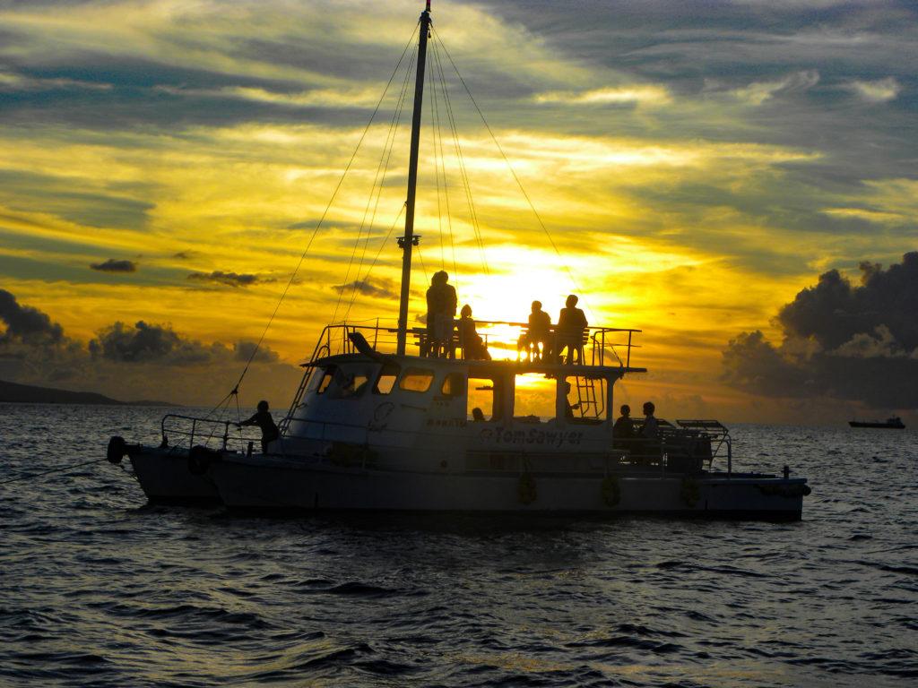 石垣島の釣りの夕日