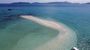幻の島の空撮