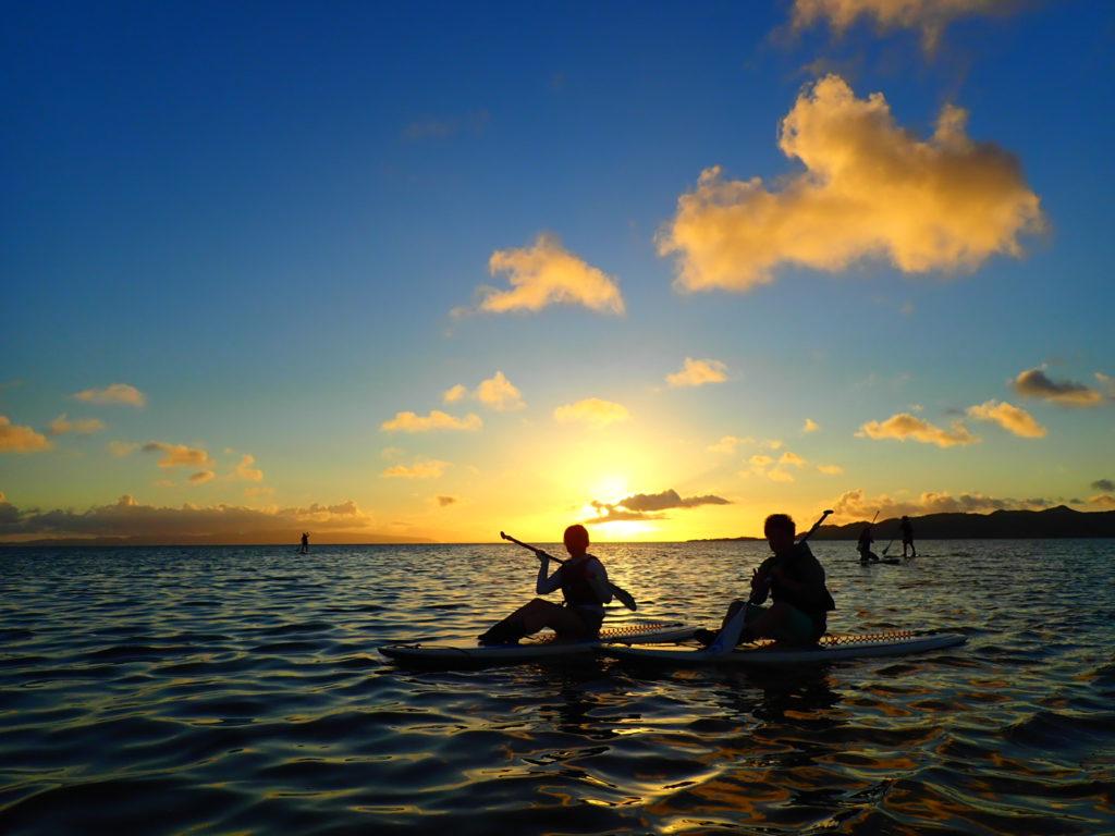 石垣島のカヤックの夕日