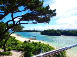 川平湾展望台からの景色