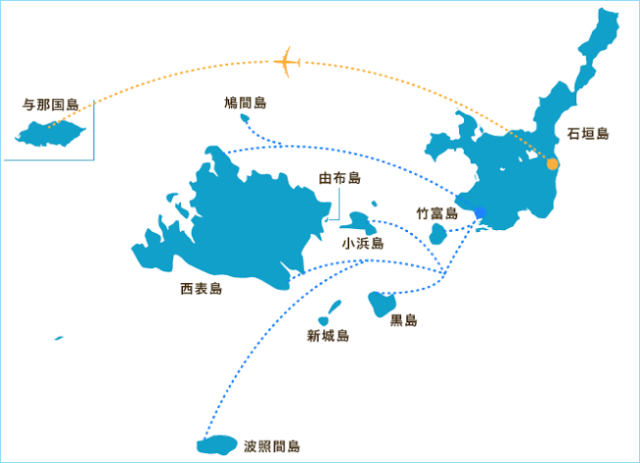 八重山諸島 地図