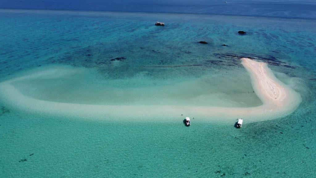 空から見た幻の島
