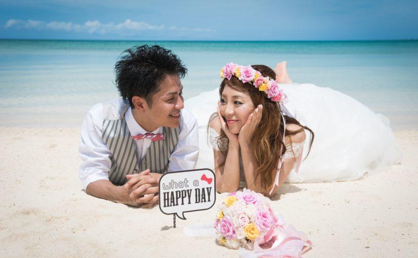 石垣島のビーチでウェディングフォト撮影