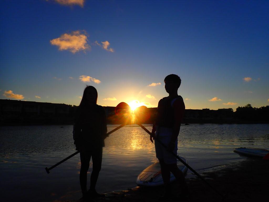 石垣島の日の出SUP