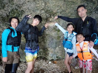 青の洞窟、洞窟内部、シュノーケリング、家族で