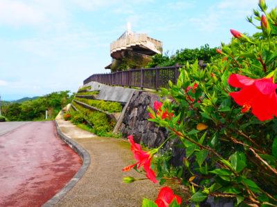 石垣島、バンナ公園、エメラルドの海を見る展望台