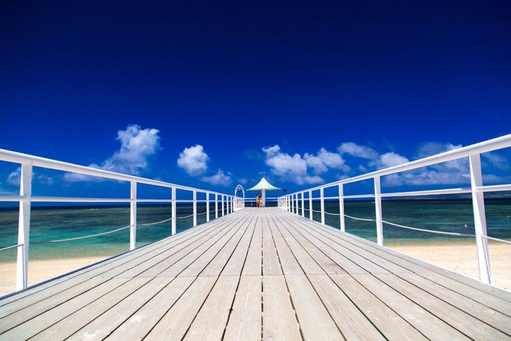 フサキビーチの桟橋