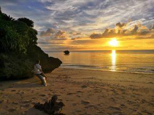 石垣島サンセットビーチの夕日