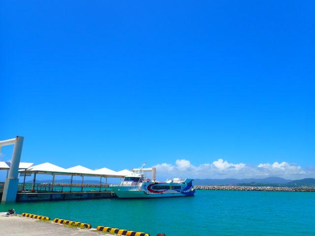 竹富島のフェリー