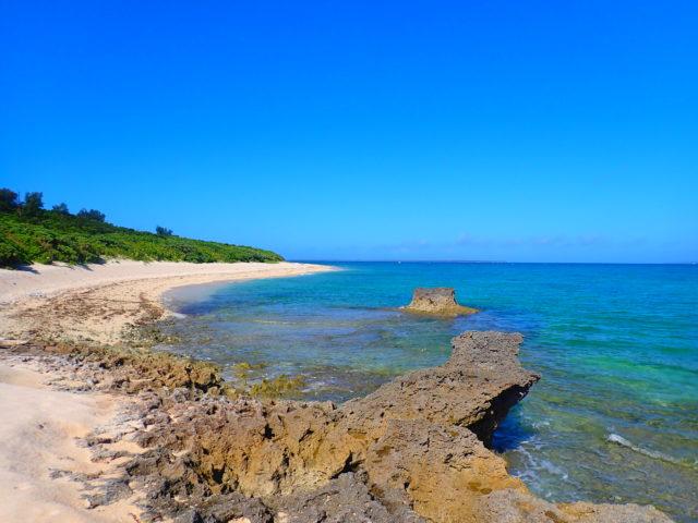 黒島、西の浜