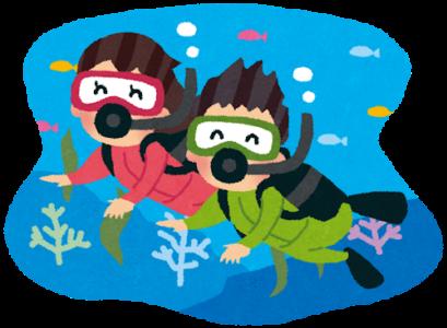 ダイビングを楽しむカップル