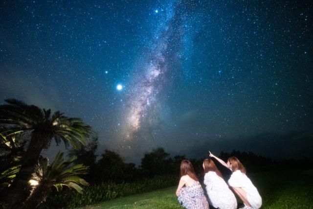 石垣島,星空フォトツアー,友達と,天の川
