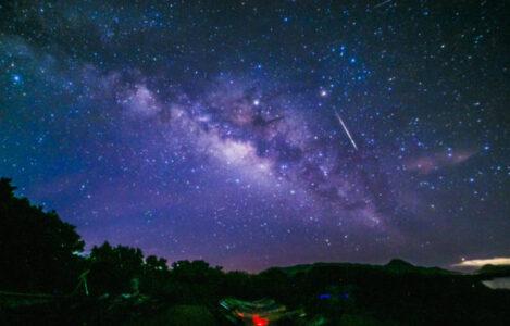 石垣島北部の満天の星空