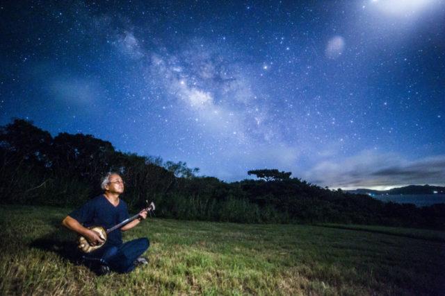 石垣島,星空ツアー,流れ星,三線,星空フォト